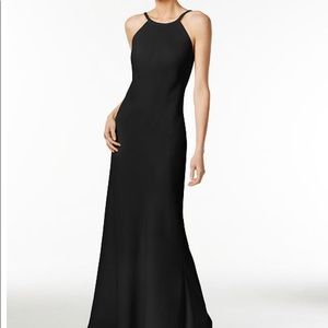 Size 2 Black Calvin Klein Prom Dress